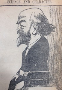 "Sir Oliver Lodge speaking on ""Evolution of Character"" at the Ancoats School.  Image reproduced courtesy of Cadbury Research Library: Special Collections, University of Birmingham, OJL4/9"